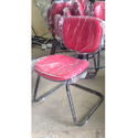 Red Visitor Chair Without Arm For Office