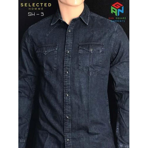 b1b7f172a01 Selected Homme Slim Mens Denim Shirt
