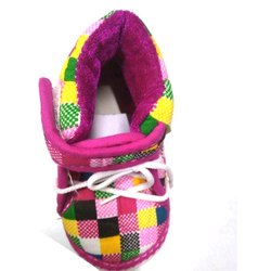 Daily wear Pink, Black And Yellow Kids Shoes