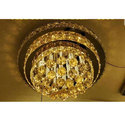 Hanging Crystal Ceiling Chandelier, Shape: Round