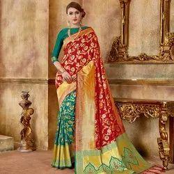 Fancy Jacquard Silk Saree