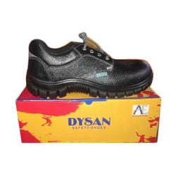Dysan Men Black Leather Shoes, Size: 6 to 12