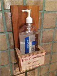 Wooden Foot Hand Sanitizer Dispenser Stand