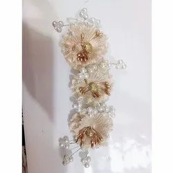 Artificial Golden Flower Hair Brooch