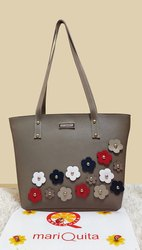 Mariquita Grey Shoulder Tote Bag