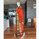 6.3 M (with Blouse Piece) Festive Wear Orange Pure Paithani Saree