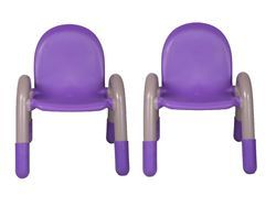 Chico Engineering Plastic Kids Chair Purple Pair