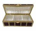Treasure Chest - Wooden Handmade Dry Fruit Gift Box - Brown