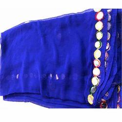 GP-D160 Chiffon Shisha 4 Side Lace Dupatta