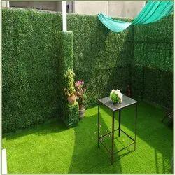 Green Artificial Wall Grass