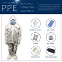 SITRA Certified 90GSM, Laminated Fabric PPE kit