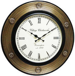 Half Brass Fitted Wall Clock