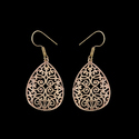 Bohemian Tribal Geometric Brass Dangle Drop Earrings