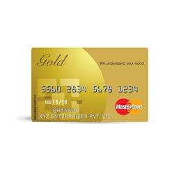 Plastic Gold Credit Card