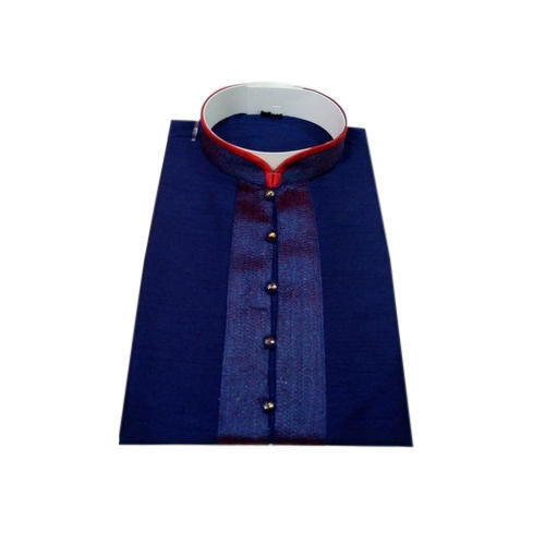 d3b52a3f0b8c5d Mens Silk Blue Plain Fashionable Kurta