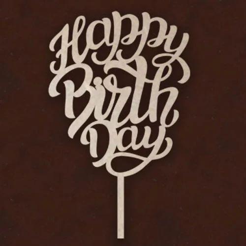 Cake Toppers Happy Birthday Mdf Laser Cut Mdf