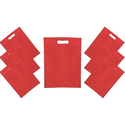 Non Woven Red D Cut Carry Bags