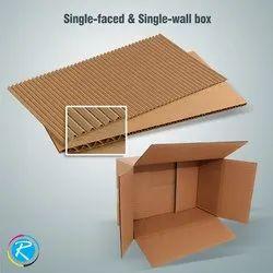Brown Single Wall Corrugated Box, Capacity: 6-10 kg