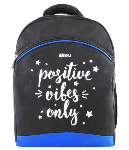 Black & Blue And Polyester And Black Backpack Bags
