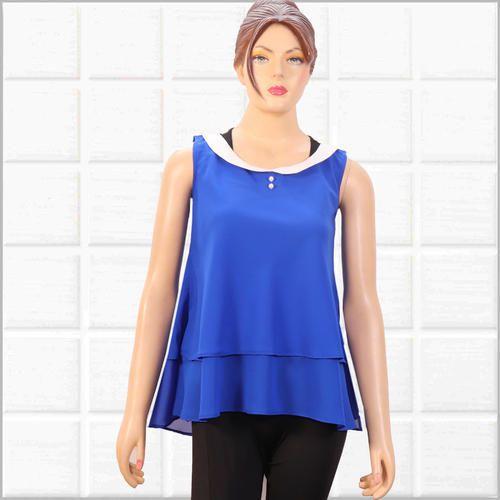 Blue Ladies Fancy Top