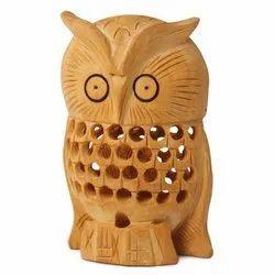 Polished Wooden Undercut Owl