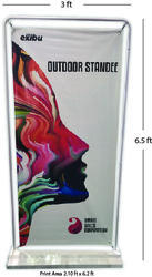 White And Door Banner Stand, For Promotional Item