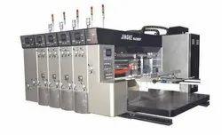 Auto Lead Feeder Flexo Printing Slotting  Machine With Hydraulic Stacker