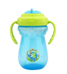 ST-1160 Straw 2 Handle Cup Blue & Green