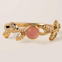 Ladies Peach Moonstone Cabochon Cut Beautiful Looking Gorgeous Ring