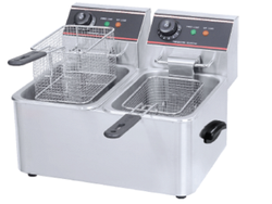 2  TANK 2 BASKET ELECTRIC FRYER