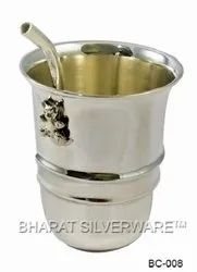 Pure Silver Baby Straw Tumbler