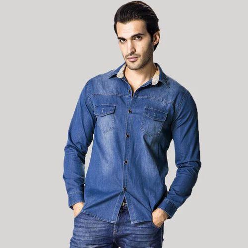 8270331d682e Men Jean Button Shirt - Faded Black Denim Shirt Manufacturers, Size: Small,  Medium