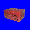 Indian Soapstone Colored Stone Jewelry Box