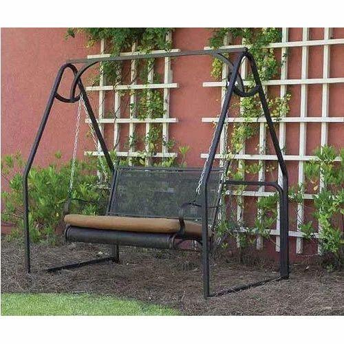 Black Wrought Iron Garden Swing