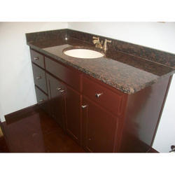 Tan Brown Glossy Granite Stone