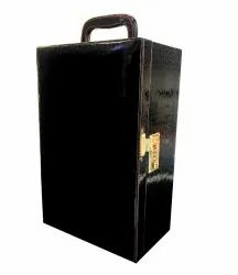Bar Accessories Portable Leatherette Briefcase Bar Set - Black crocodile bar set