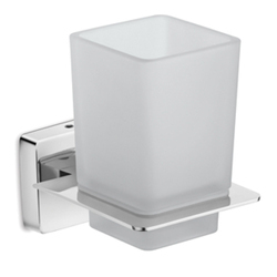 Stainless Steel & Glass White Urban Wall Mounted Toothbrush Holder, Packaging Type: Box