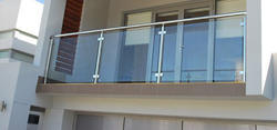Bar Glass Railing With Dorma Hardware