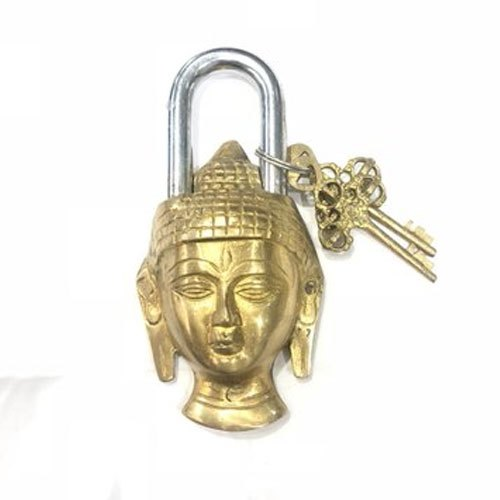 Golden Buddha Head Brass Door Locks