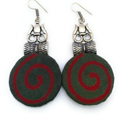 FE011 Handmade Fabric Earrings