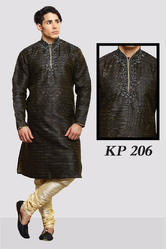 Black Kurta Pyjamas For Gents
