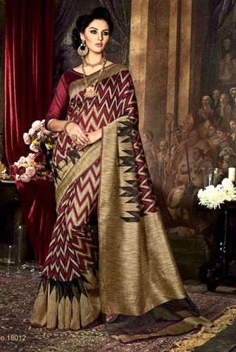 6630e78b80 Maroon Colour Poly Silk Weaving Printed Work Saree at Rs 1760 /piece ...