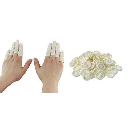 Rubber Yellow Finger Cots, Size: Free Size
