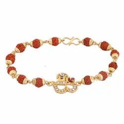 Natural Rudraksh Beads Bracelet