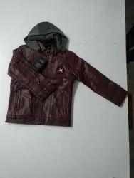 Lokenath Boys & Girls Kids Leather Jacket