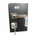 Dorset Brass Door Handle Locks, Finish Type: Chrome