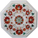 Pietra Dura Marble Inlay Coffee Table Top
