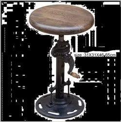 Black Round Cast Iron Stool for Restaurant