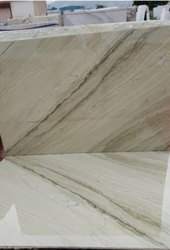 Beige Rough Finished Katni Marble Slab, Thickness: 10-15 mm