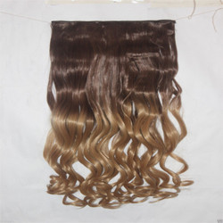 24 Inch Golden Brown Mix Curly Hair Extension